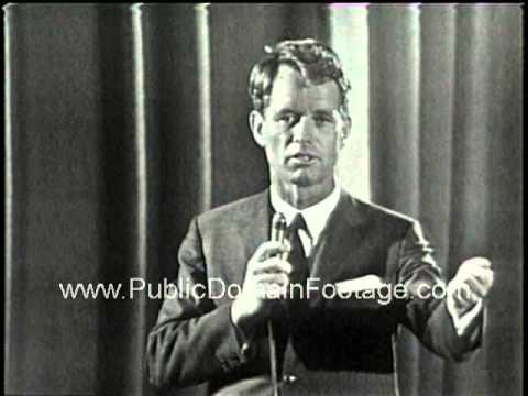 Robert F. Kennedy speech at Columbia University 1964  - RFK speaking
