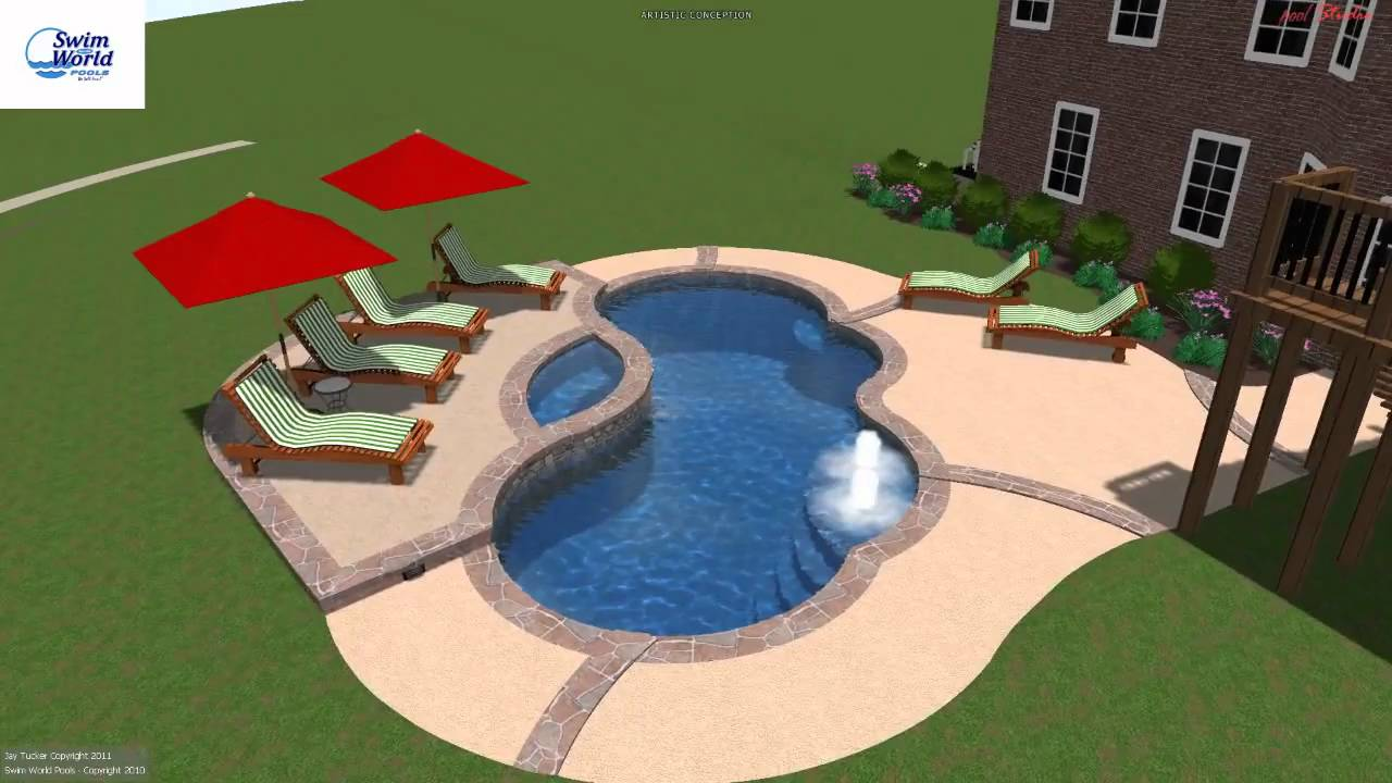 Roney Fiberglass Pool and Spa combo from Swim World Pools ...