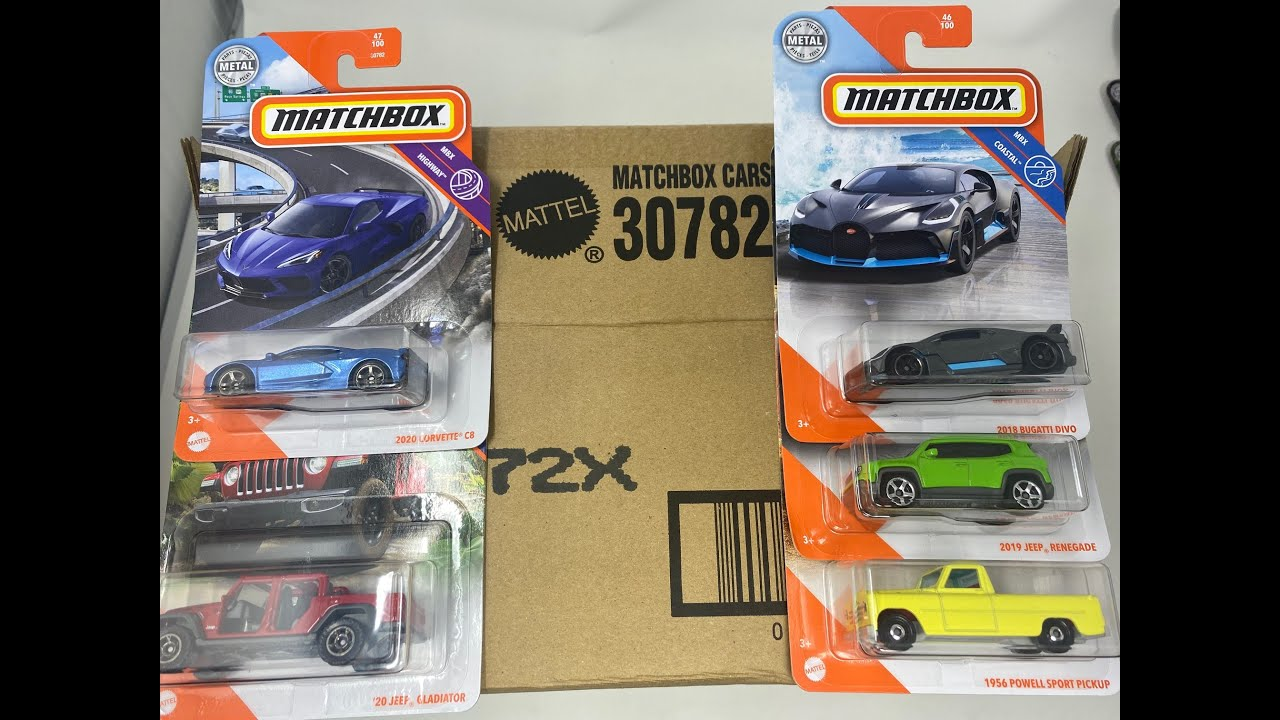 2020 Matchbox Basic X Case Opening Unboxing The Final Case Of The Year Corvette C8 Bugatti Divo Youtube