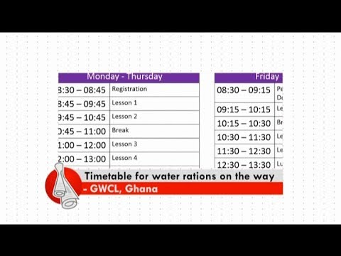 Timetable for water rations on the way - Don't Think Far News (10-2-18)