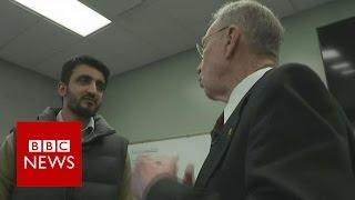 Asylum seeker confronts Republican senator   BBC News