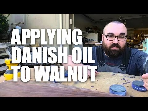 Gorgeous! Applying Danish Oil to a Walnut Shelf – Woodworking Tutorial