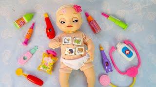 #Куклы ОСМОТР НА ДОМУ Пупсика Оли Мультик для детеи Игрушки для девочек Мама и дочка