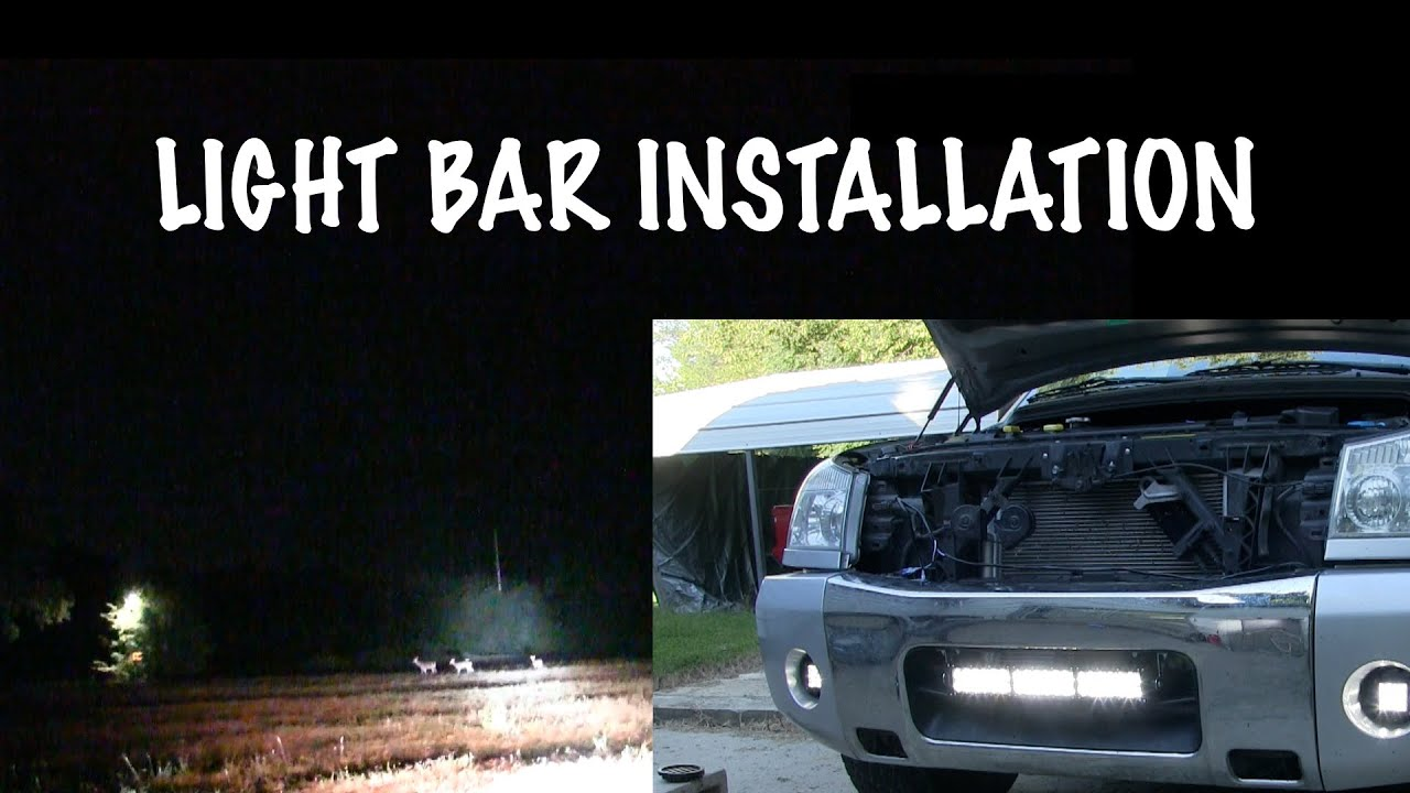 Light bar install how to install bumper mount light bar nissan light bar install how to install bumper mount light bar nissan titan project youtube mozeypictures Gallery