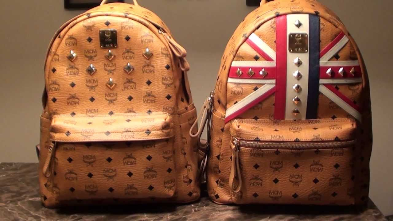 Mcm Stark Comparison Limited Edition Rare Olympics Vs Older Version Stud Backpack Cognac Leather You