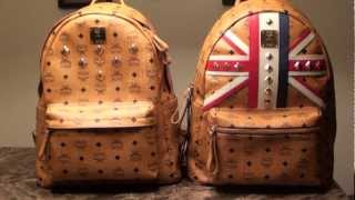 MCM Stark Comparison Limited Edition (RARE Olympics) vs Older version Stud Backpack Cognac Leather