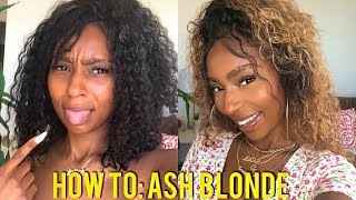 How to: Bleach Bundles from Black to Ash Blonde with Wella Color Tango| Beginner Friendly