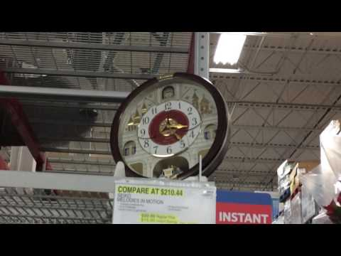 2016 Seiko special collector's Edition clock- QXM565BRH at Sams. With 2 Display models