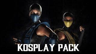 Mortal Kombat XL - Sub-Zero / Scorpion Kosplay Costume / Skin Pack (1080p 60FPS)