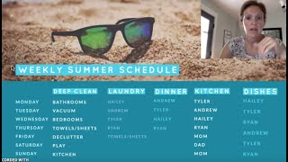 Our Summer Chore Schedule | School is OUT!