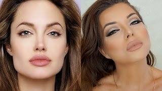 Cat eye Angelina Jolie makeup Tutorial