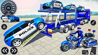 Police Trailer Truck Driver Simulator 3D - US Police Car Transporter Driving - Android GamePlay screenshot 4