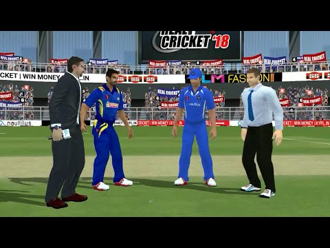 22nd April IPL 11 Rajasthan Royals Vs Mumbai Indians Real cricket 2018 mobile Gameplay