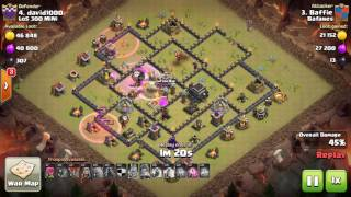 Clash of Clans | TH9 vs TH9 [max air defences] | GoWi Laloon