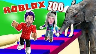 Roblox: AUS ZOO ENTKOMMEN - Nina & Kaan werden von Elefanten gefressen und verdaut | ESCAPE ZOO