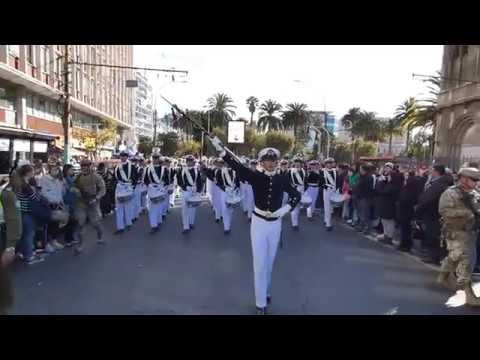 Glorias Navales 2019, Escuela naval, Pasacalle por calle Condell