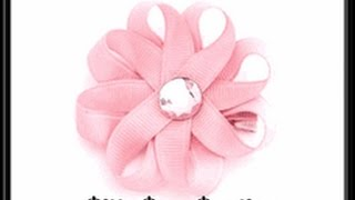 How To Make A Small Ribbon Flower Hair Bow