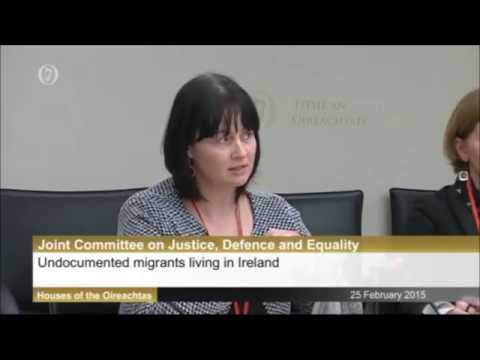 Justice Committee presentation on the undocumented in Ireland