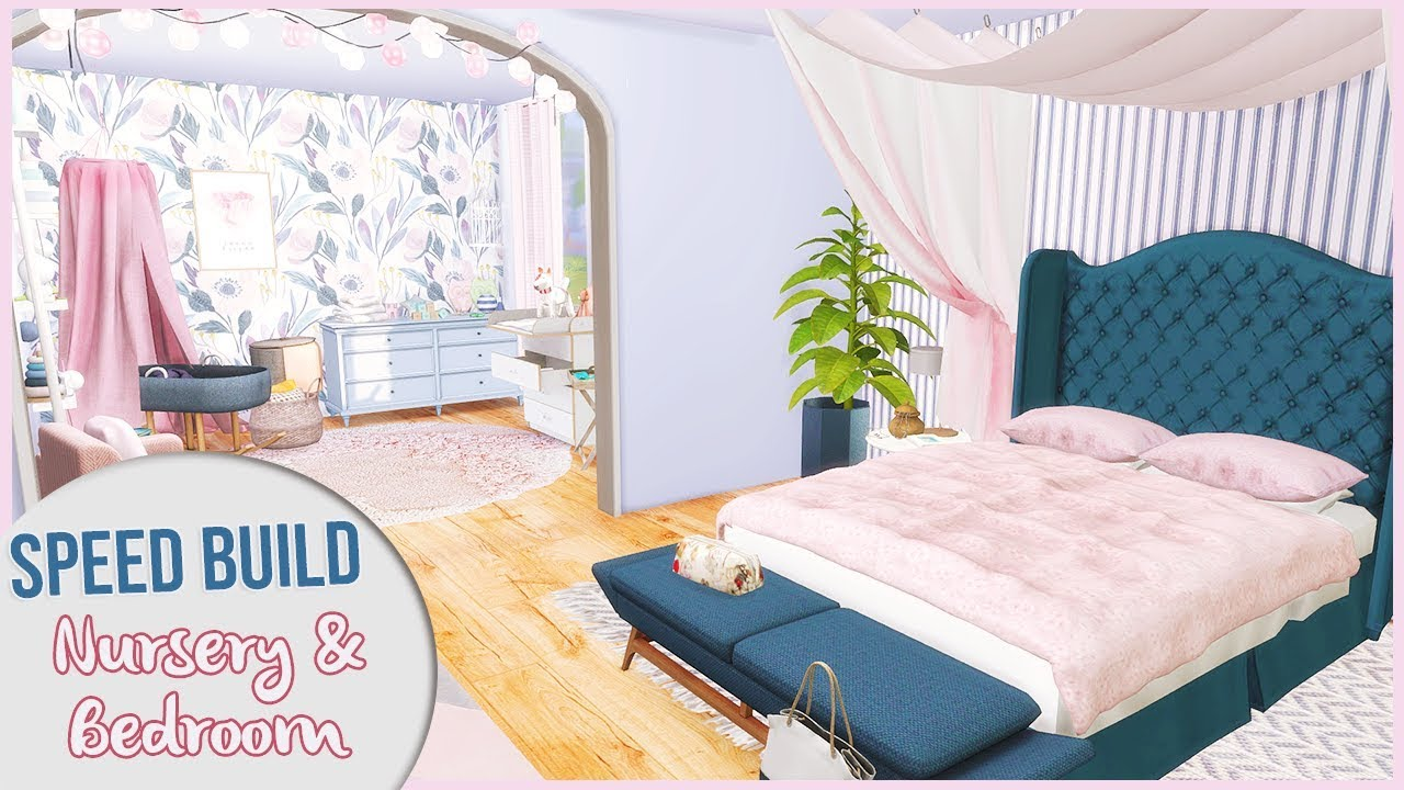 The Sims 4 Speed Build   NURSERY + PARENTS\' BEDROOM with CC Links