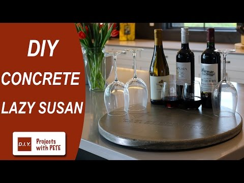 how to make a round concrete table top concrete lazy susan