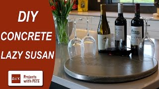 Concrete Lazy Susan - How To Build A Round Concrete Tabletop
