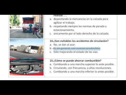 Spanish driving test with urdu translation no :20