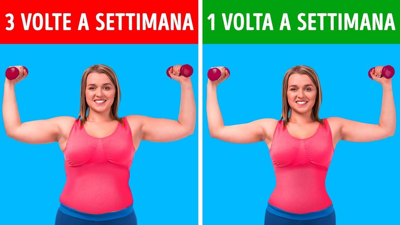 routine per definire i muscoli e bruciare la donna grassa