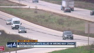 Local accountants killed in wrong-way crash