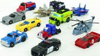 Transformers MiniCar 12 Vehicle Transformation Robot Car Toys 트랜스포머 미니 자동차 장난감 로봇 변신 동영상
