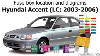 fuse box location and diagrams: hyundai accent (lc; 2003-2006) - youtube  youtube