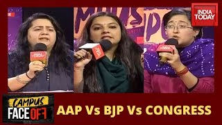 Campus Face Off | AAP Vs BJP Vs Congress Over Women Safety, CAA Protests & Jobs