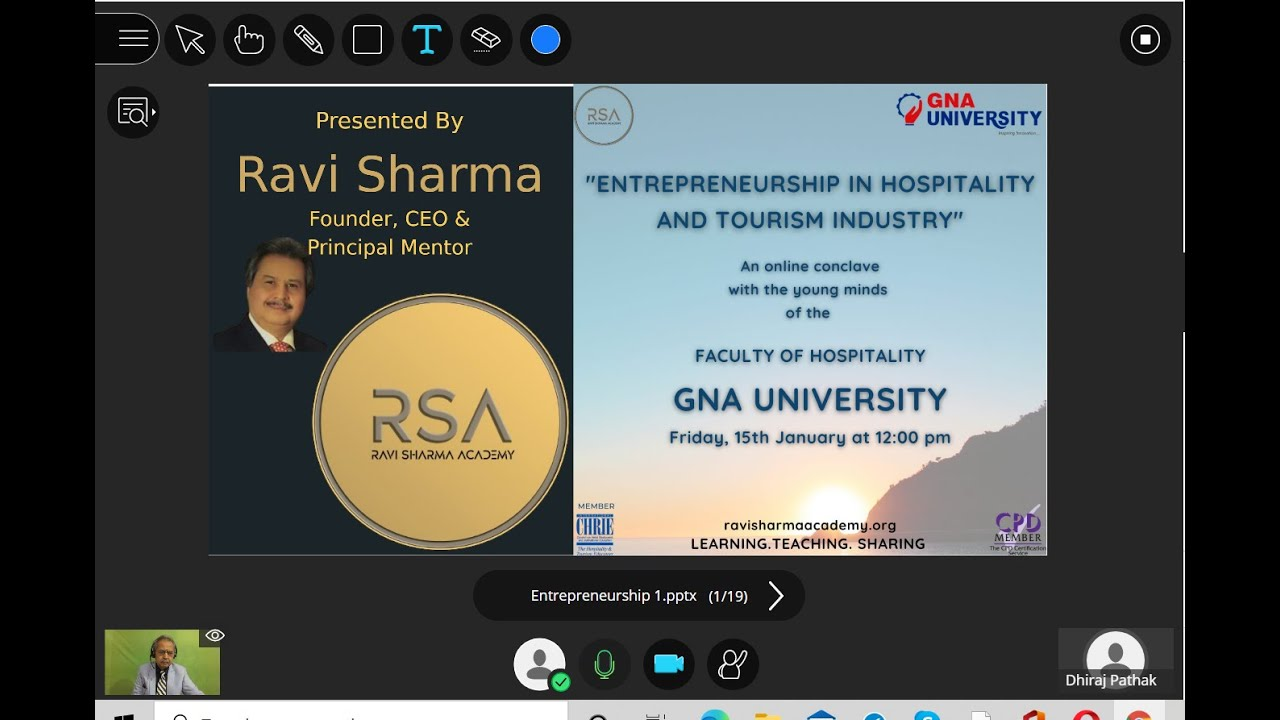 To Ignite the Young Minds about entrepreneurship, an online Conclave organised by GNA University