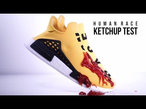 Pharrell x adidas Human Race NMD Ketchup Test! Crep Protect