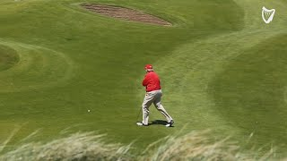 WATCH: Trump struggles to get golf ball uphill at Doonbeg golf course