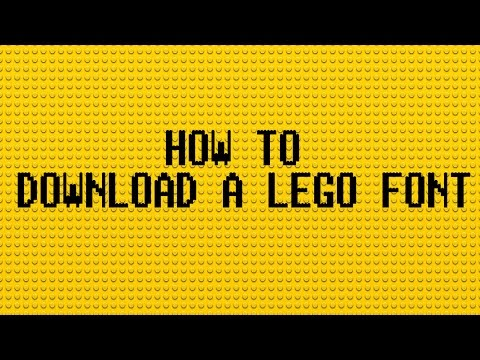 How to Download a Lego Bricks font