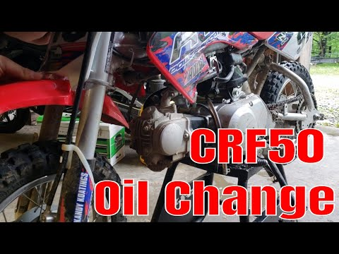 Honda CRF50 - How to change the oil!