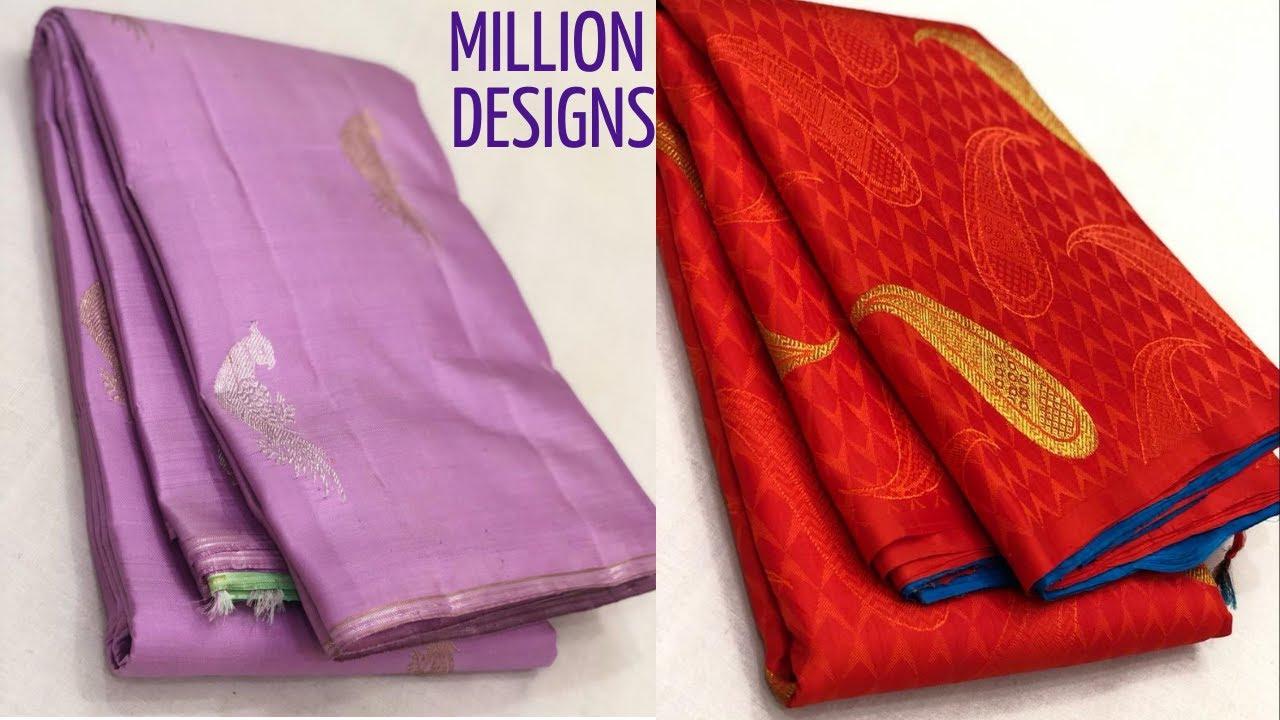 Fascinating Kanchi Pattu Sarees Online | MILLION DESIGNS