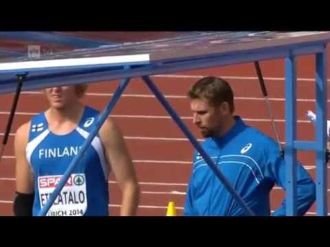 Men´s Javelin Throw Final European Championships Zürich, Switzerland 17.8.2014
