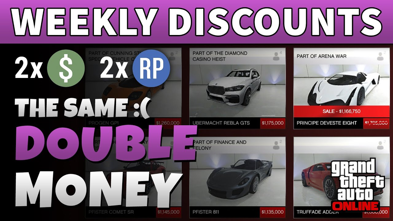 GTA Double Money This Week | GTA 5 ONLINE WEEKLY DOUBLE RP AND CASH BONUSES (RC Bandito 40% Off)