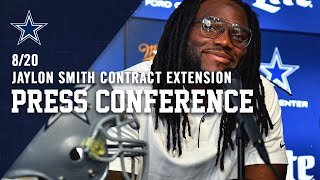 8/20 LIVE Press Conference: Contract Extension | Dallas Cowboys