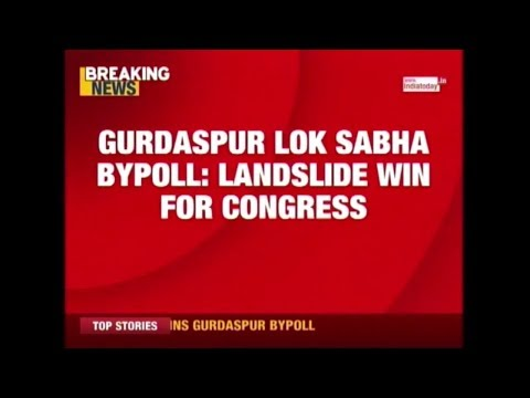 Congress Wins Gurdaspur Lok Sabha Polls By Nearly 2 Lakh Votes