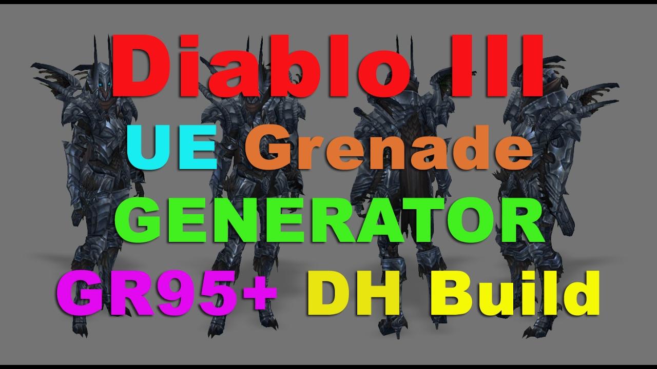 UE Grenade Generator GR100+ - Demon Hunter - Diablo III