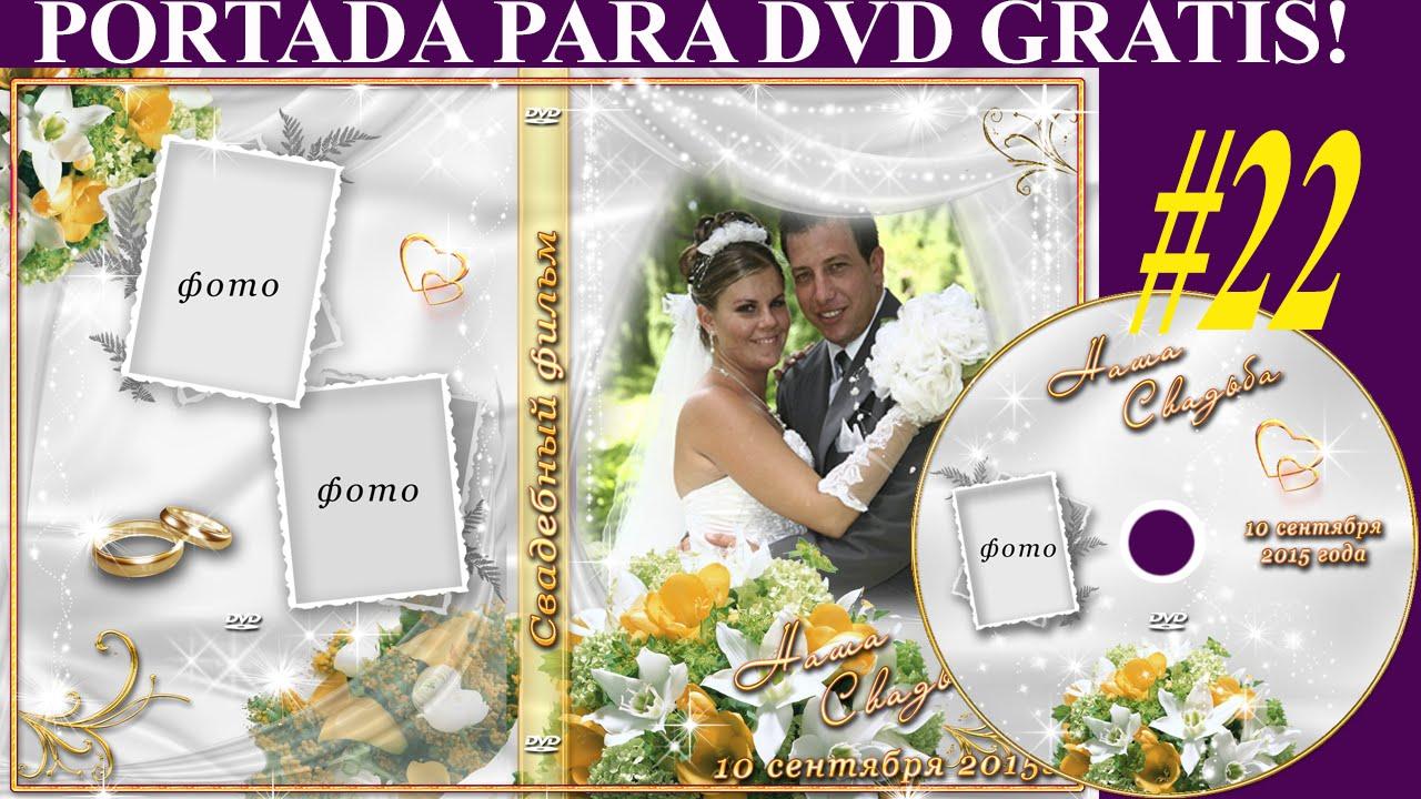 Plantillas psd para crear portada y etiqueta DVD Bodas - Plantillas ...