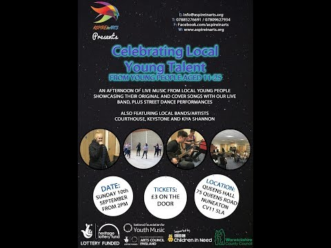Celebrating Local Young Talent at Queens Hall, Nuneaton, Warwickshire