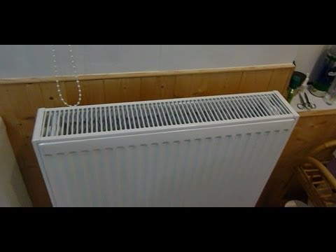 How to change a small central heating radiator for a larger one.Get ...