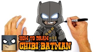 How to Draw Chibi Armored Batman | Justice League