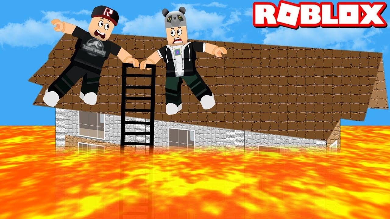 Yükseğe Çıkmazsan Lavlara Düşersin!! - Panda ile Roblox Natural Lava Disaster