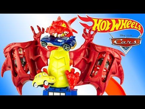 Hot Wheels Dragon Blast Attack Track Set Disney Cars Toy Review Juguetes