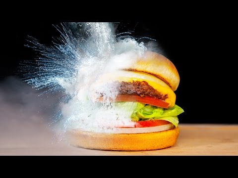 DIY LIQUID NITROGEN vs FOOD EXPERIMENT!!
