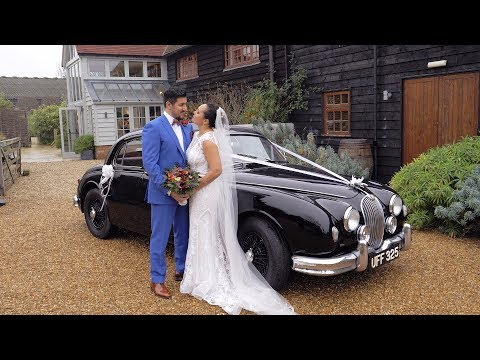 Joanna + Khaliq Wedding Highlights - Gate Street Barn, Guildford